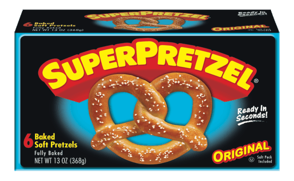 $0.50 for SUPERPRETZEL® Soft Pretzels (expiring on Sunday, 12/02/2018). Offer available at multiple stores.