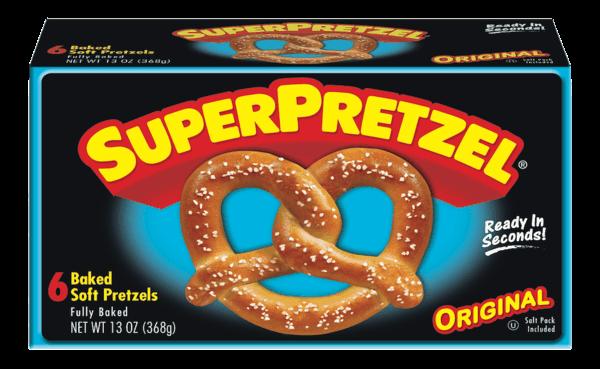 $0.50 for SUPERPRETZEL® Soft Pretzels. Offer available at multiple stores.