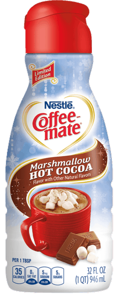 $0.50 for NESTLÉ® Coffee-mate® Creamer (expiring on Monday, 01/01/2018). Offer available at Walmart.