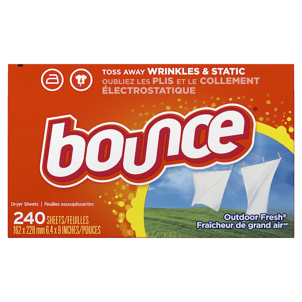 $0.50 for Bounce® Dryer Sheets (expiring on Monday, 09/02/2019). Offer available at Walmart.