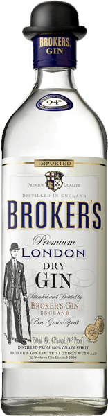 $5.00 for Broker's® London Dry Gin. Offer available at multiple stores.