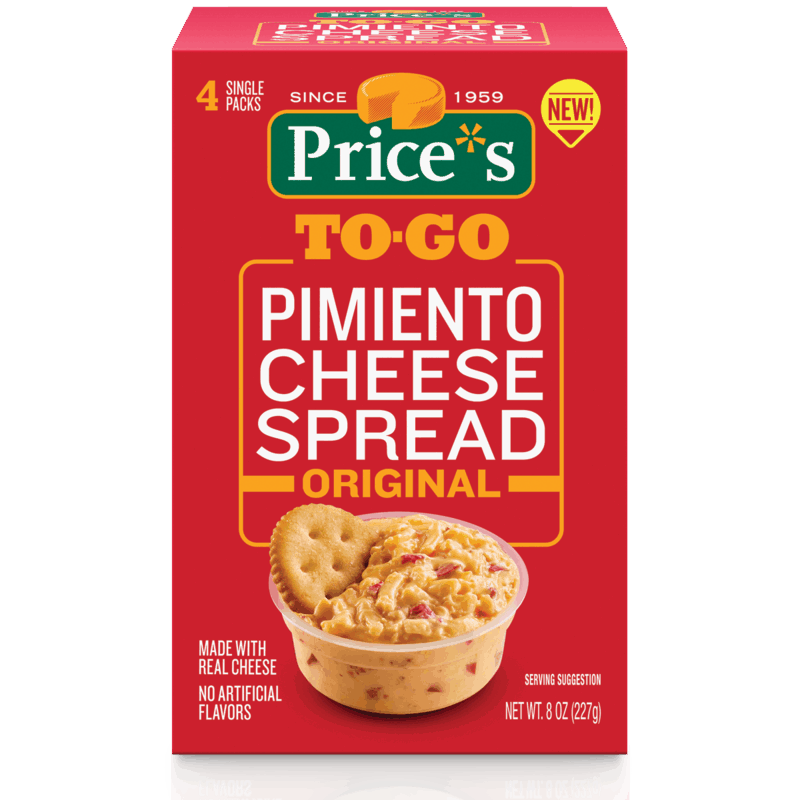 $1.00 for Price*s To-Go Pimiento Cheese Spread (expiring on Monday, 03/02/2020). Offer available at multiple stores.