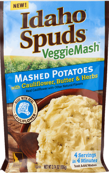 $0.50 for Idaho® Spuds™ VeggieMash™ (expiring on Tuesday, 04/02/2019). Offer available at multiple stores.