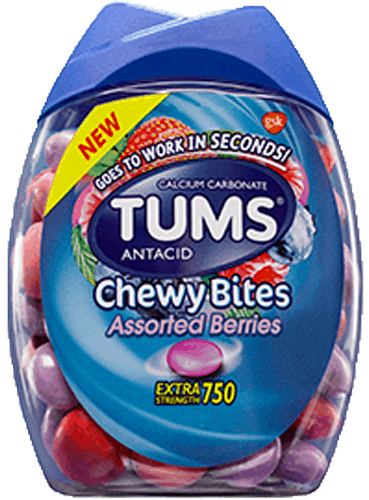 $1.50 for TUMS® Chewy Bites Extra Strength Antacid Relief. Offer available at multiple stores.