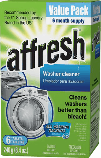 $1.50 for Affresh® Washer Cleaner. Offer available at Target, Meijer, Home Depot, Lowe's.