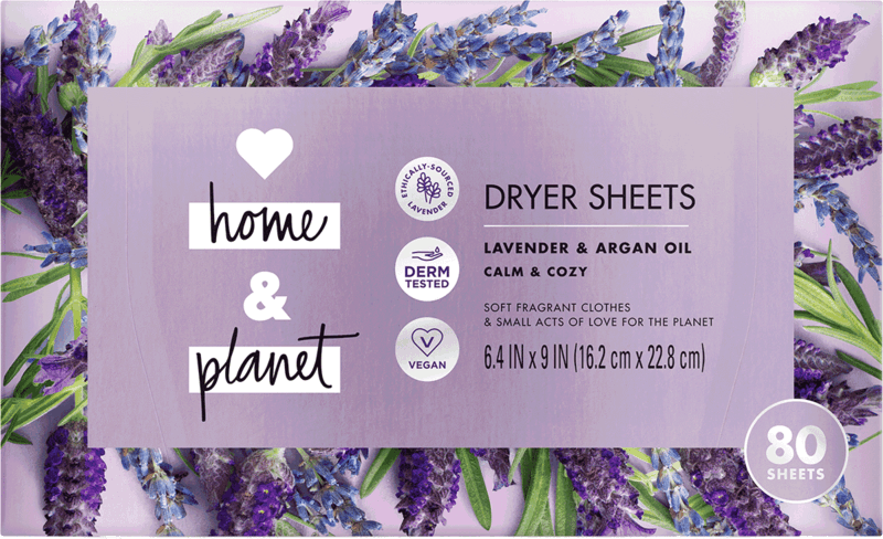 $1.50 for Love Home and Planet™ Dryer Sheets. Offer available at Meijer, Harris Teeter.