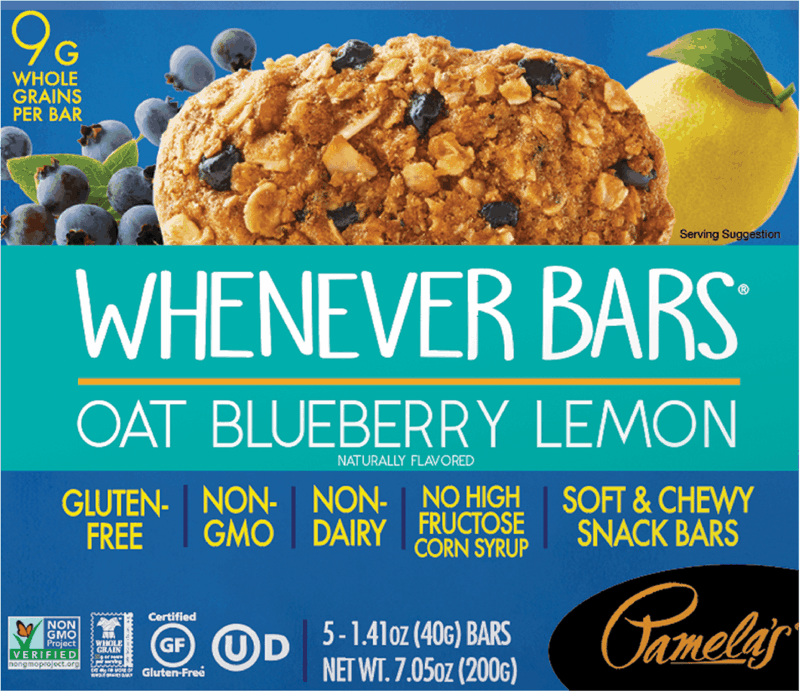 $1.00 for Pamela's Whenever Bars (expiring on Monday, 05/31/2021). Offer available at multiple stores.