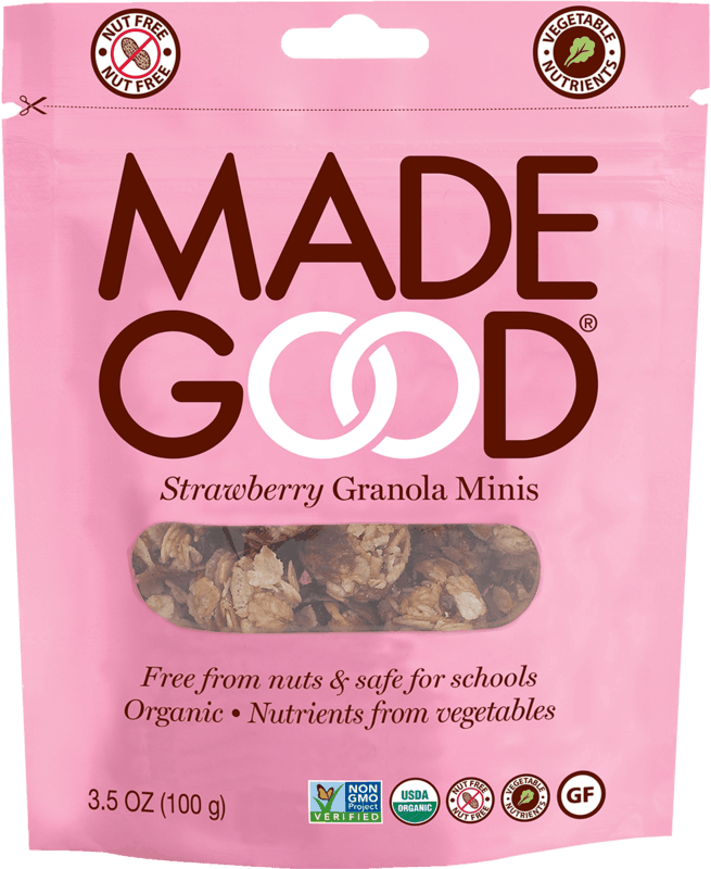 $1.00 for MadeGood® Granola Minis Pouches (expiring on Monday, 03/02/2020). Offer available at CVS Pharmacy.