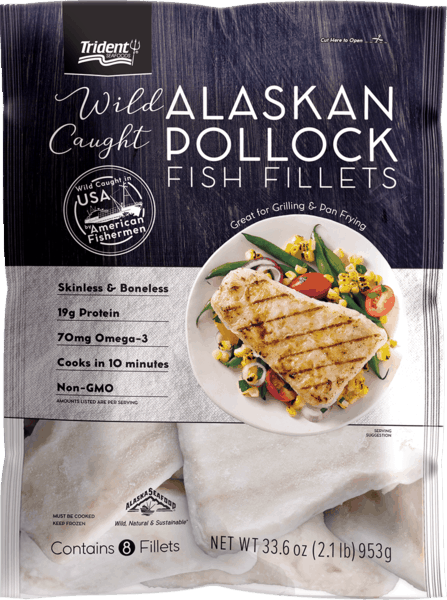 $1.00 for Trident Seafoods® Alaskan Pollock Fish Fillets (expiring on Wednesday, 10/02/2019). Offer available at multiple stores.