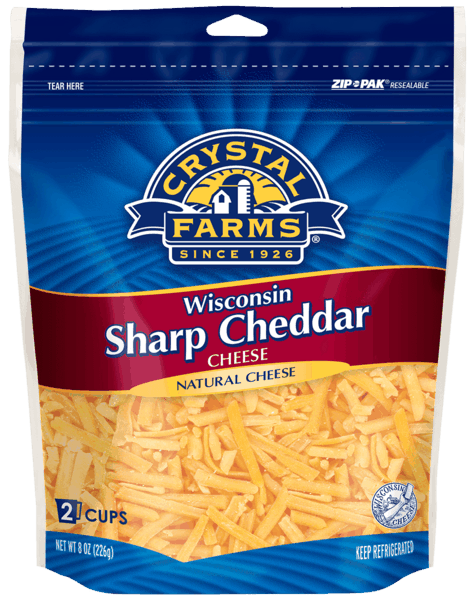 $0.75 for Crystal Farms® Shredded Cheese (expiring on Thursday, 06/06/2019). Offer available at multiple stores.