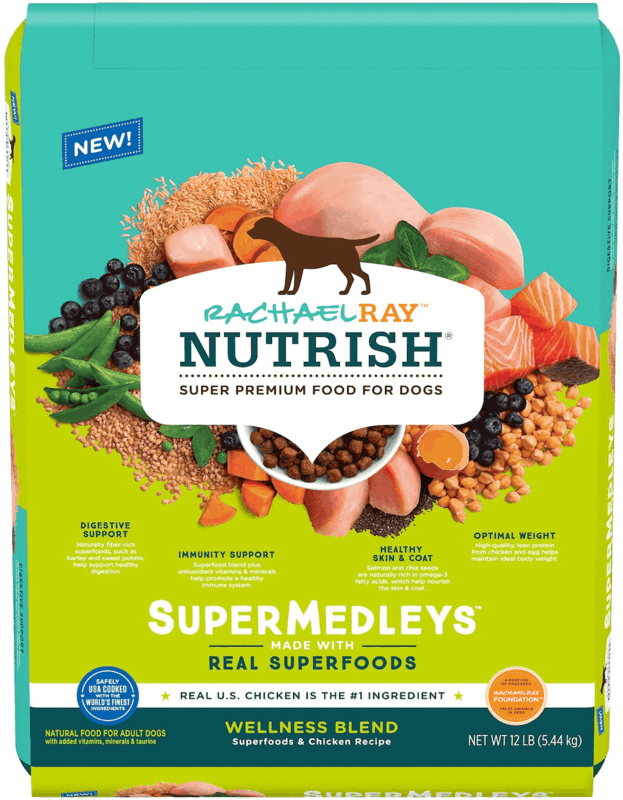 $3.00 for Rachael Ray Nutrish SuperMedleys Dry Dog Food (expiring on Tuesday, 04/07/2020). Offer available at multiple stores.
