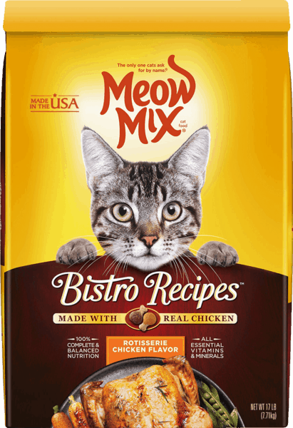 $1.50 for Meow Mix® Dry Cat Food (expiring on Wednesday, 01/31/2018). Offer available at Walmart.