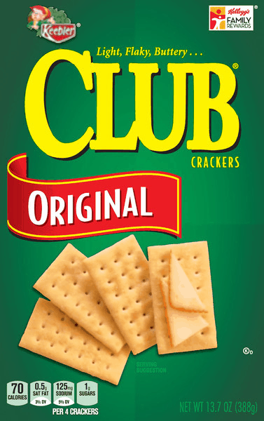 $0.50 for Club® Crackers (expiring on Monday, 07/02/2018). Offer available at multiple stores.