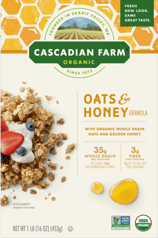 $0.50 for Cascadian Farm™ Granola (expiring on Saturday, 11/02/2019). Offer available at Walmart.