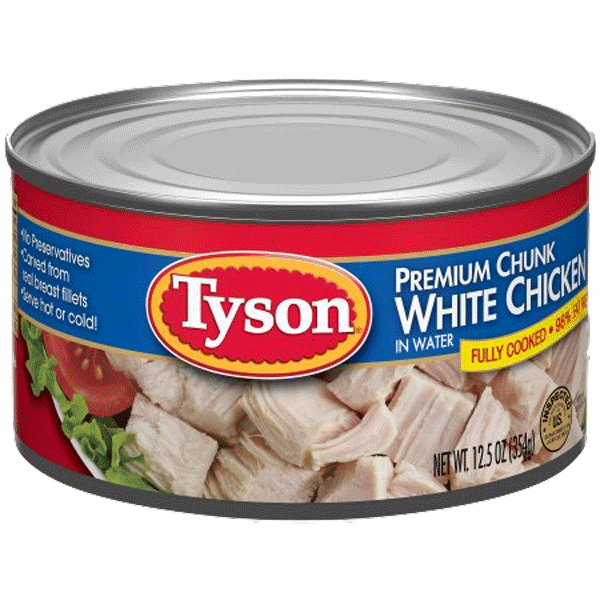 $0.50 for Tyson® Premium Chunk White Chicken (expiring on Wednesday, 06/28/2017). Offer available at Walmart.