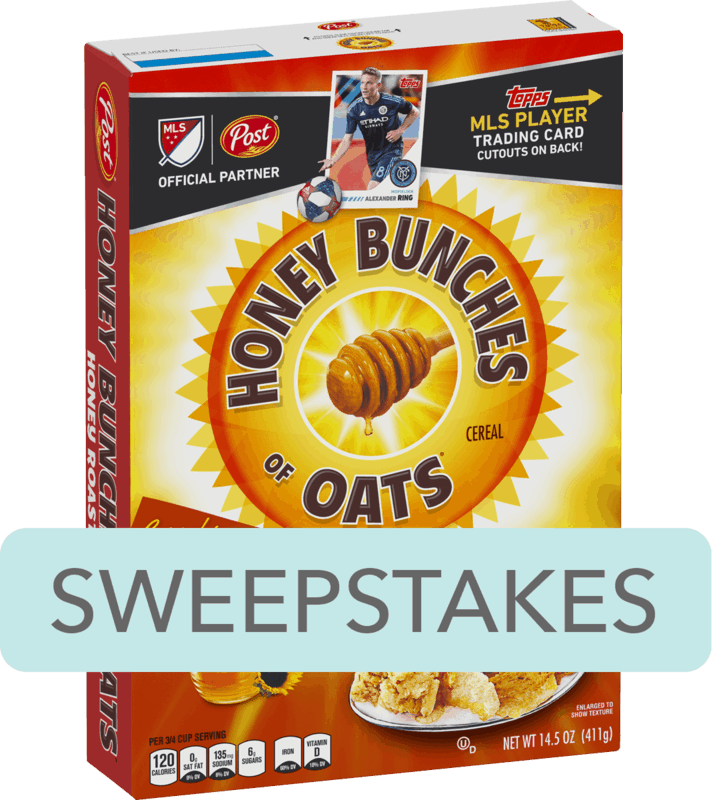 $0.50 for Post® Honey Bunches of Oats® Cereal (expiring on Saturday, 02/08/2020). Offer available at multiple stores.