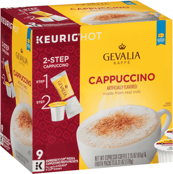 $2.00 for Gevalia Cappuccino Espresso Coffee K-Cup Pods (expiring on Friday, 08/02/2019). Offer available at Walmart.com.