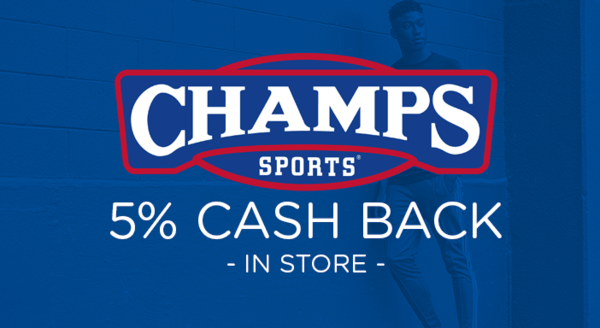 $0.00 for Champs Sports (expiring on Monday, 12/31/2018). Offer available at Champs Sports.