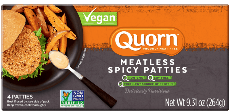 $2.00 for Quorn Meatless Vegan Spicy Patties (expiring on Saturday, 10/31/2020). Offer available at Publix.