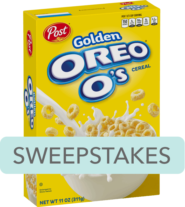 $0.25 for Post® Golden OREO O's® Cereal (expiring on Saturday, 02/08/2020). Offer available at Walmart.