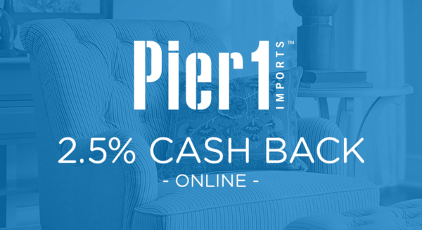 $0.00 for Pier 1 Imports (expiring on Sunday, 03/01/2020). Offer available at Pier 1 Imports.