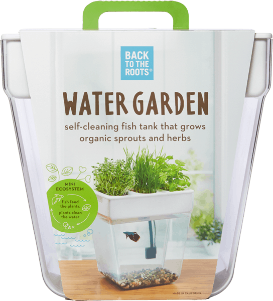 $6.00 for Back to the Roots® Water Garden (expiring on Thursday, 03/09/2017). Offer available at Wegmans, Whole Foods Market®, Home Depot, Petco, Natural Grocers.
