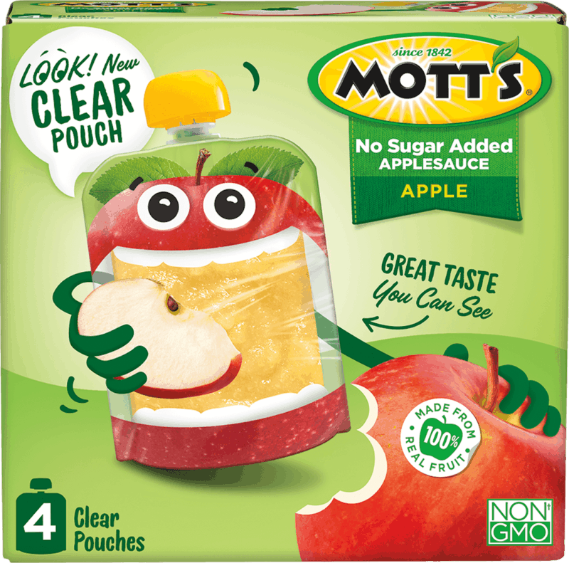 $0.50 for Mott's® Clear Applesauce Pouches (expiring on Wednesday, 03/11/2020). Offer available at multiple stores.