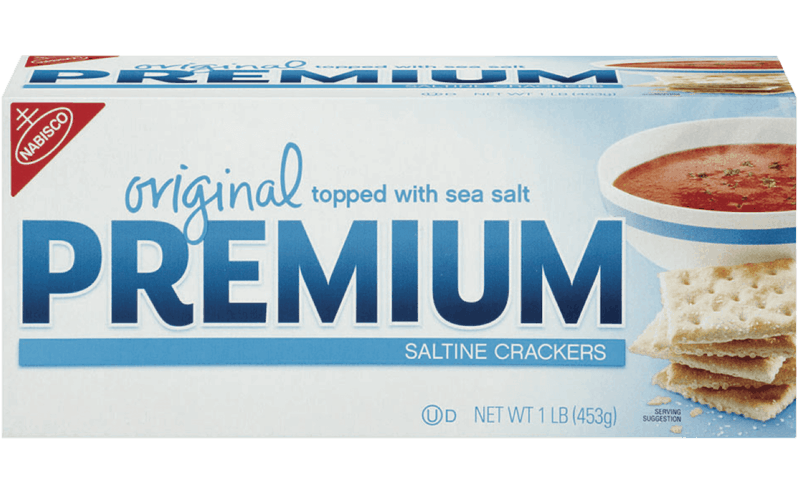 $1.00 for Premium Saltine Crackers. Offer available at Walmart.