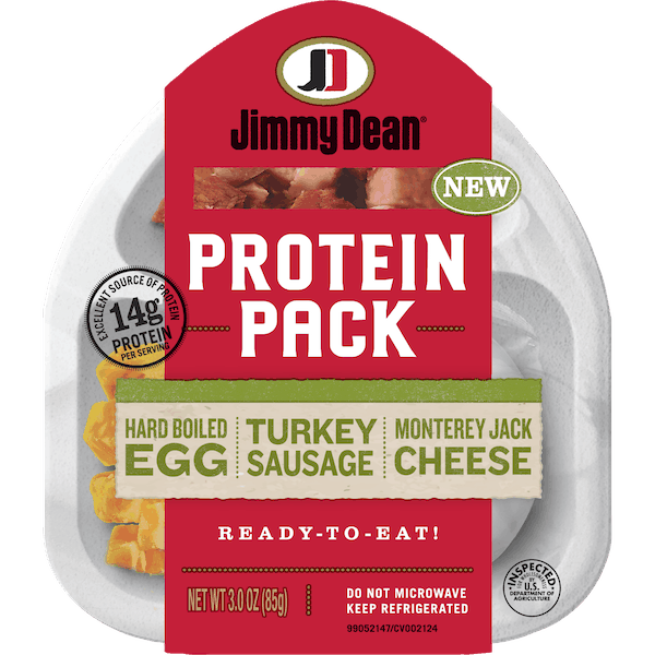 $0.55 for Jimmy Dean® Protein Pack (expiring on Tuesday, 04/02/2019). Offer available at multiple stores.