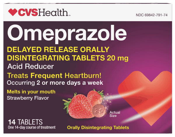 $3.00 for CVS Health™ Omeprazole Acid Reducer Orally Disintegrating Tablets (expiring on Monday, 12/02/2019). Offer available at CVS Pharmacy.