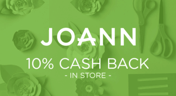 $0.00 for JOANN (expiring on Sunday, 08/02/2020). Offer available at JOANN .