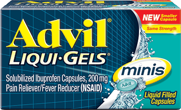 $1.00 for Advil® Liqui-Gels® minis (expiring on Monday, 04/02/2018). Offer available at multiple stores.