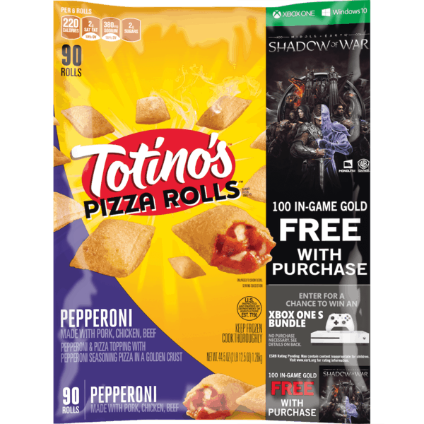 $1.00 for Totino's™ Pizza Rolls® (expiring on Monday, 04/02/2018). Offer available at Walmart.