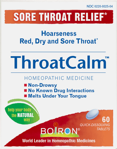 $5.00 for Boiron® ThroatCalm™ Tablets. Offer available at CVS Pharmacy.