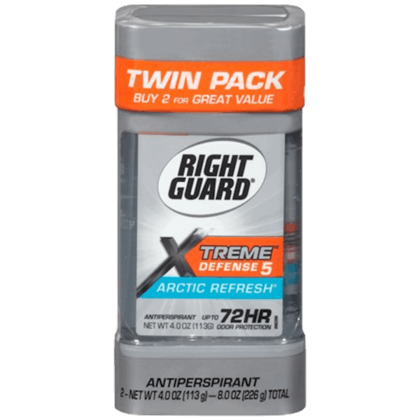 $2.00 for Right Guard® Xtreme Defense™ Antiperspirant/Deodorant Twin Pack (expiring on Friday, 02/01/2019). Offer available at Walmart.