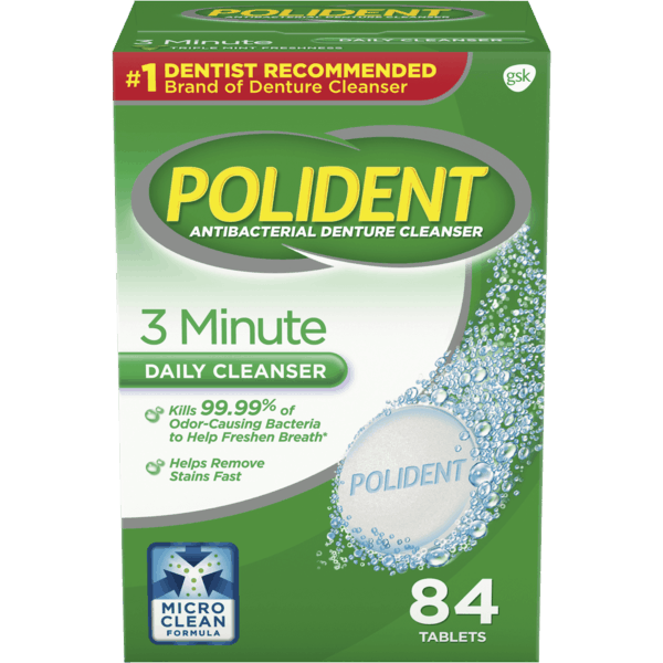 $1.50 for Polident Denture Cleanser. Offer available at Walmart.