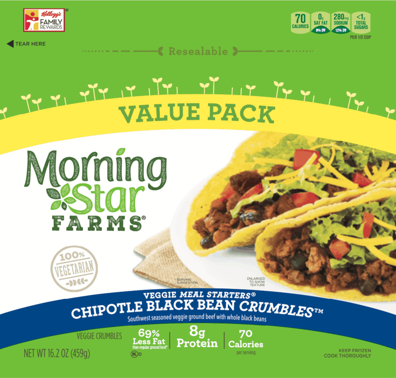 $1.00 for Morning Star Farms Chipotle Black Bean Crumbles (expiring on Wednesday, 06/10/2020). Offer available at Walmart.