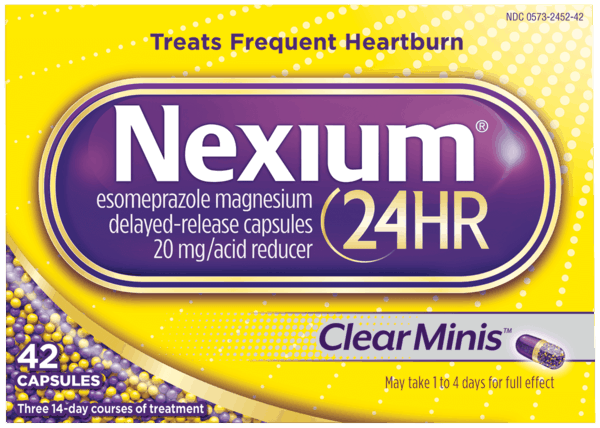 $1.00 for Nexium® 24HR (expiring on Thursday, 04/12/2018). Offer available at Walmart.