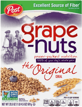 $0.50 for Grape Nuts® Cereal (expiring on Monday, 04/02/2018). Offer available at WinCo Foods.