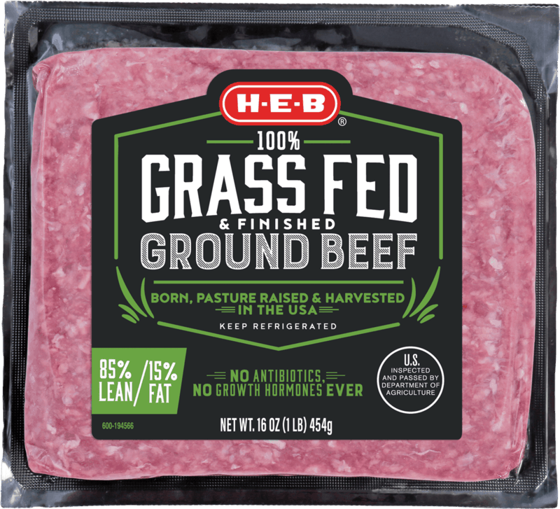$0.50 for H-E-B 100% Grass Fed & Finished Ground Beef (expiring on Friday, 09/04/2020). Offer available at H-E-B.