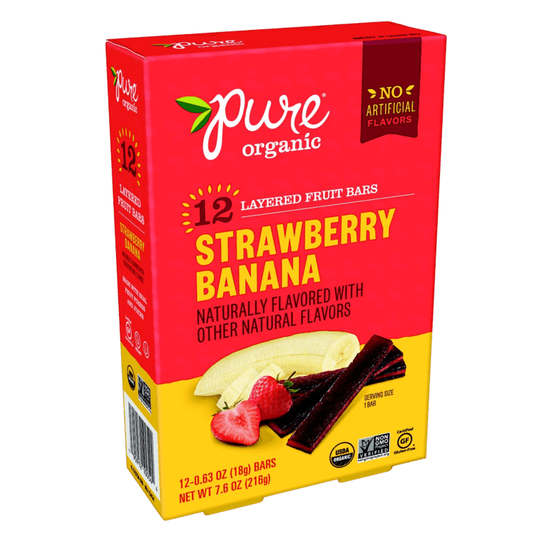 $0.75 for Pure Organic Layered Fruit Bars (expiring on Sunday, 02/28/2021). Offer available at multiple stores.