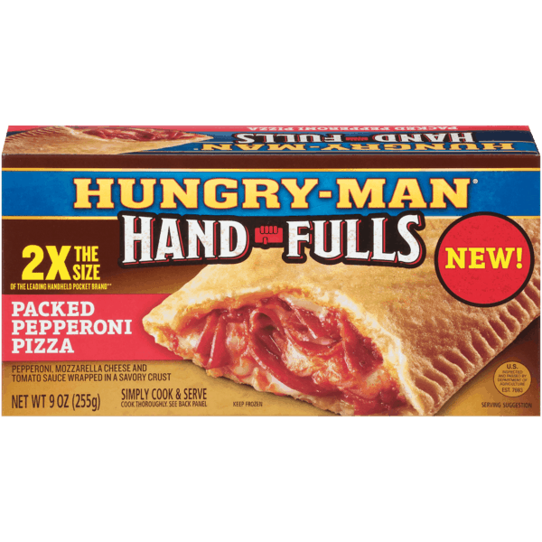$0.75 for Hungry-Man® Hand-Fulls (expiring on Tuesday, 03/27/2018). Offer available at Walmart.