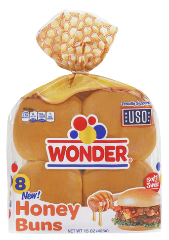 $0.50 for Wonder® Honey Buns (expiring on Saturday, 12/28/2019). Offer available at multiple stores.