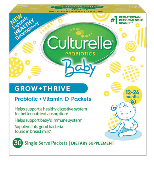 $5.00 for Culturelle® Baby Grow + Thrive Probiotic + Vitamin D Packets. Offer available at multiple stores.