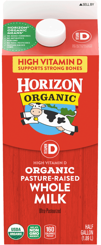$0.50 for Horizon Organic® Milk. Offer available at Walmart.