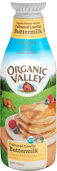 $1.00 for Organic Valley® Buttermilk (expiring on Monday, 12/31/2018). Offer available at multiple stores.