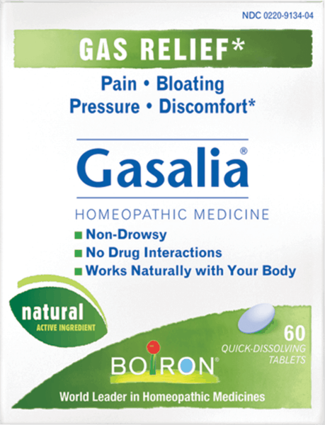 $1.00 for Boiron® Gasalia® (expiring on Wednesday, 08/01/2018). Offer available at multiple stores.