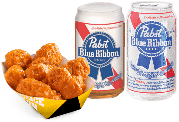 $2.00 for Pabst Blue Ribbon® Beer AND Food Combo. Offer available at Any Restaurant, Any Bar.