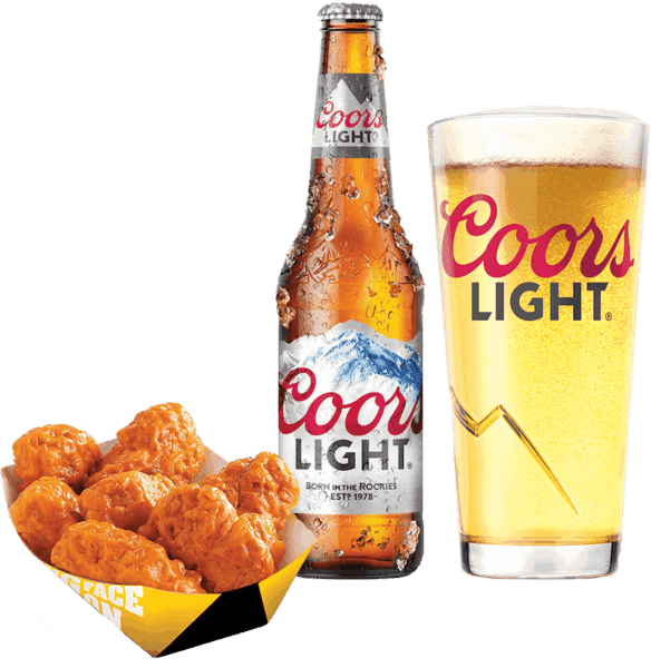 $4.00 for Coors Light® and Any Food Item. Offer available at Buffalo Wild Wings, Any Restaurant, Any Bar.