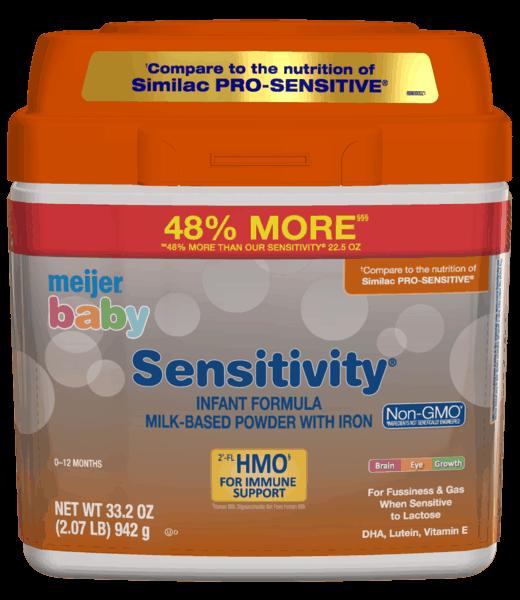 $3.00 for Meijer® Baby Sensitivity Formula (expiring on Thursday, 05/02/2019). Offer available at Meijer.